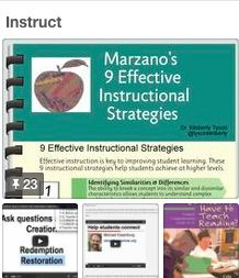 Michael Essenburg's best practice board on instruction