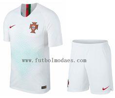 cd00b78b4df0d Portugal 2018 copa de mundia segunda blanco camiseta y shorts