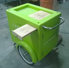 A Tal da Castanha | Carrinho Gourmet | Studio Dias Food Cart Design, Cafe Design, Food Truck, Food Trolley, Popsicles, Gelato, Cargo Bike, Projects, Shots
