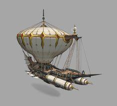 ArtStation - fc, wood li Arte Steampunk, Steampunk Airship, Steampunk Crafts, Dieselpunk, Dream Fantasy, Fantasy Life, Fantasy Map, Fantasy Artwork, Flying Ship