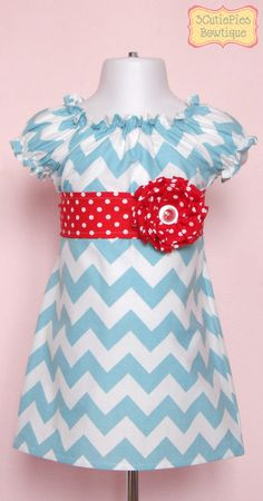 Peasant dress, Chevron dress, girls dress, toddler dress, dress-Girls sizes 3 months-6 years via Etsy
