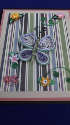paper quilled card handmade card and by dominiquehandmade on Etsy, $14.00