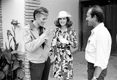 David Bowie, Candy Clark and Nicholas Roeg