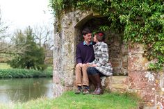 Spring Engagement shoot at Scotney Castle, Kent