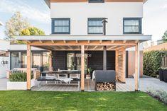 2 Garden Yard Ideas, Backyard Patio Designs, Outdoor Classroom, Backyard Makeover, Outdoor Living, Outdoor Decor, Back Patio, Exterior Doors, Outdoor Gardens