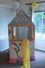 Tangled Party Tower..this wld be a cute puppet stage!!!
