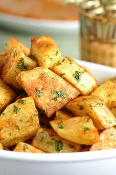 An easy to make recipe for Spicy Lebanese-Style Potatoes (Batata Harra). These spiced potatoes are a flavorful appetizer, side dish, or party snack.