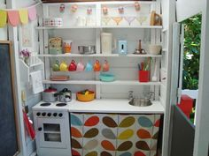 Lovely little playhouse kitchen