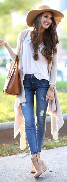 Tan Waterfall Cardi Fall Inspo by Southern Curls and pearls
