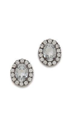crystal stud earrings / adia kibur