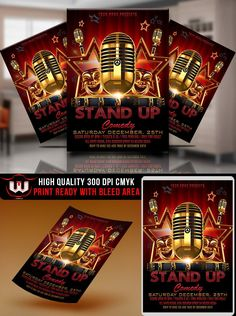 Marketing Exhibition Stand Up Comedy : Comedy night flyer template a good way to promote your comedy