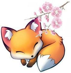 Pin by анастасия корецкая on рисунок животных in 2019 Cute Kawaii Drawings, Kawaii Art, Cute Fox Drawing, Adorable Drawings, Anime Animals, Cute Animals, Fox Pictures, 3d Drawings, Fox Art
