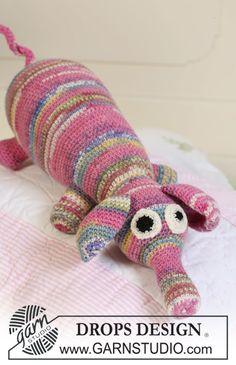 """Free pattern: Crochet DROPS fabulous animal in """"Fabel""""."""