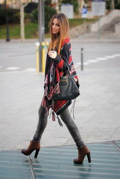 boho outfit for winter