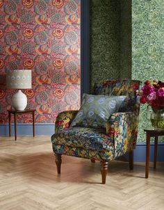 If you're a fan of unique interior design and bold patterns, you'll love this new homeware collection from John Lewis and Liberty Interior Design Instagram, Best Interior Design, Interior Design Inspiration, Interior Decorating, Design Ideas, Liberty Wallpaper, Bold Wallpaper, Wallpaper Ideas, John Lewis Wallpaper