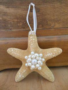 Beach Decor Ornament - Starfish Ornament - Coastal Home Decor - Starfish and Pearls Ornament - Coastal Christmas -  Beach Wedding on Etsy, $16.00