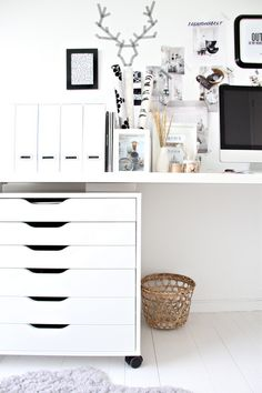clean, white office....