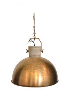 Dassie Large Brass Marlowe Dome Pendant - Trouva