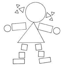 Výsledok vyhľadávania obrázkov pre dopyt panáčik z geometrických tvarov