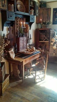Primitive furniture home. <3