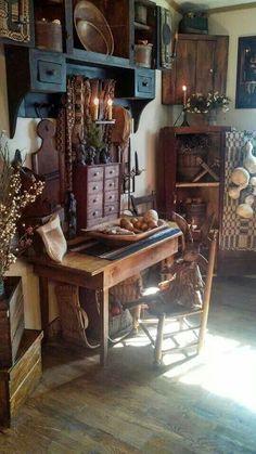Primitive furniture home. <3