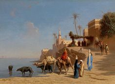 VIEW TAKEN AT MIMEH, EGYPT / Charles Théodore FRERE ca.1880