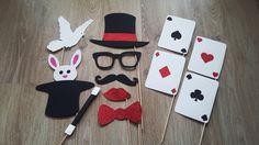 Accessoires photobooth x 12 magicien, magie : Autres papeterie par stefebricole