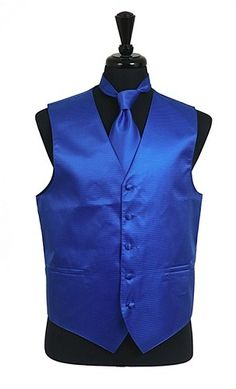 Men's Royal Blue Satin Vests with Neck Tie are a must-have when you need to look dashing for a wedding, prom, formal party, stage, production, church, or for any other formal occasion. These satin ves