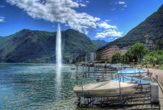 View of Paradiso in Lugano, in the canton of Ticino, Switzerland Switzerland Travel Guide, Visit Switzerland, Beyond The Sea, Tourist Information, Lugano, Future Travel, Adventure Awaits, Beach Fun, Trip Planning