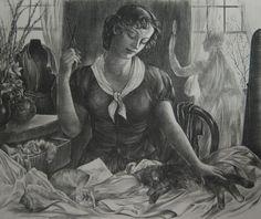 The Dress Shop, Agnes Tait cats in art (scheduled via http://www.tailwindapp.com?utm_source=pinterest&utm_medium=twpin)