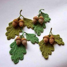 Crochet Leaves, Crochet Fall, Knitted Flowers, Crochet Flower Patterns, Love Crochet, Crochet Motif, Beautiful Crochet, Irish Crochet, Crochet Leaf Free Pattern