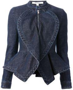 Givenchy Blue Denim Peplum Jacket