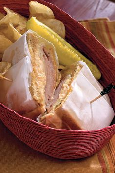 """Southern Reuben Melts - Delicious Super Sandwiches - Southernliving. Recipe: Southern Reuben Melts Online User Comment: """"We really liked this recipe. It was perfect for a quick evening dinner. My husband wanted it for lunch again the next day."""" -Oceanbrz74"""