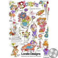 Blossom Machine Embroidery Design Collection | Compact Disc