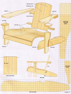 Twin adjustable adirondack chair plans for the home for Chaise adirondack plan