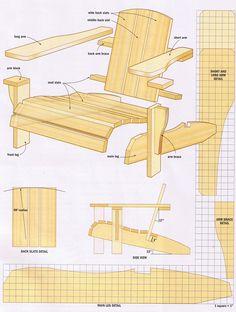 designer adirondack chairs | Plans For Adirondack Chair