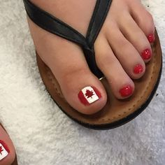 CANADA DAY PEDI Pedicure Designs, Toe Nail Designs, Pedicure Ideas, Toe Nail Art, Toe Nails, Nail Nail, Mani Pedi, Manicure And Pedicure, Pedicures