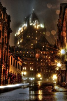 #Québec City, Canada Have not been there since I was about 12 but it was a wonderful place to go.