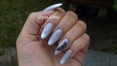 ombre nails, feather #semilac #nailart #longnails #hybridnails Long Nails, Nailart, Feather, Beauty, Quill, Feathers, Beauty Illustration
