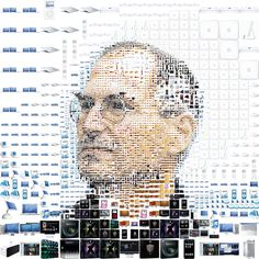 Steve Jobs' made from Apple products. Awesome!