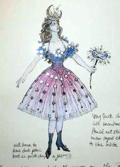 """Phantom of the Opera, Christine's """"Star Princess"""" Masquerade costume, (Maria Bjornson)"""