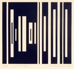 Burton Wasserman - 1967 Number Thirty Four silkscreen 27.9 x 22.9 cm