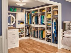 Our MasterSuite closet systems can turn an ordinary closet into a walk-in masterpiece! #MasterCloset