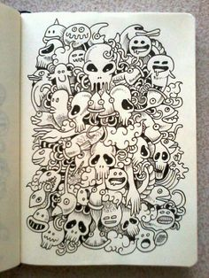 DAILY DOODLES #6 | Skulls all over. :-)