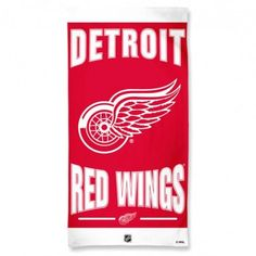 Detroit Red Wings Towel 30x60 Beach Style