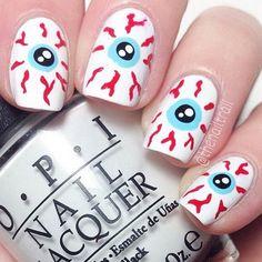 50+ diseños de arte de uñas Spooky Halloween   #Halloween #spooky