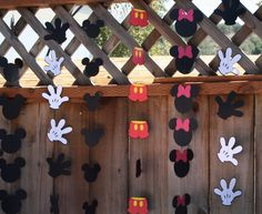 Mickey Mouse Birthday Party Hand, Pants, or Head Garland. by TheShabbyScrapper on Etsy