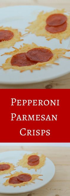 Pepperoni Pizza Parmesan Crisps are a tasty low carb gluten free snack.  Have that pizza taste without all of those pesky carbs in pizza dough.  A 2 ingredient snack made in 10 minutes, this Pepperoni Parmesan Crisp recipe is a quick a tasty treat