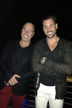 Maks and his dad:  those beautiful Chmerkovskiy men!