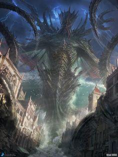 Dagon, the Sea Emperor by VladMRK.deviantart.com on @DeviantArt
